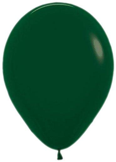 Donkergroene ballonnen 30cm 12 stuks