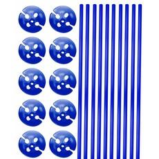 Blauwe  Ballonstokjes met Houders - 10 stuks