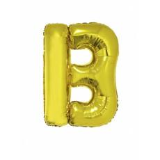 Folieballon goud letter 'B' groot