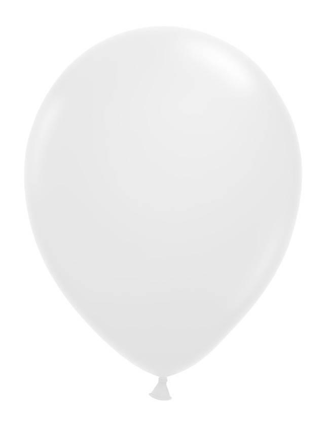 Witte ballonnen 30cm 12 stuks