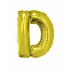 Folieballon Goud Letter 'D' groot