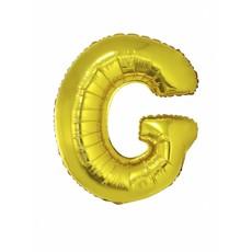 Folieballon Goud Letter 'G' groot