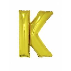 Folieballon Goud Letter 'K' groot
