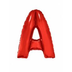 Folieballon Rood Letter 'A' groot
