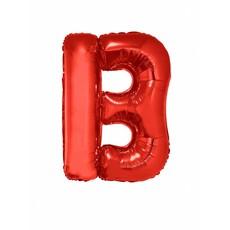 Folieballon Rood Letter 'B' groot