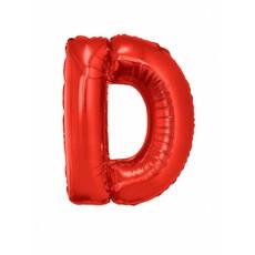 Folieballon Rood Letter 'D' groot
