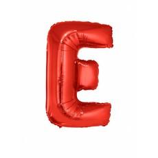 Folieballon Rood Letter 'E' groot