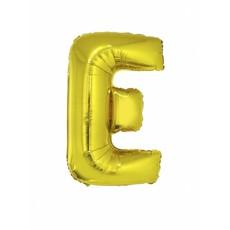 Folieballon Goud Letter 'E' groot