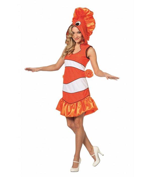 Tropische vissenpakje vrouw oranje