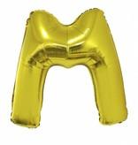 Gouden letter ballon 'M' 102cm