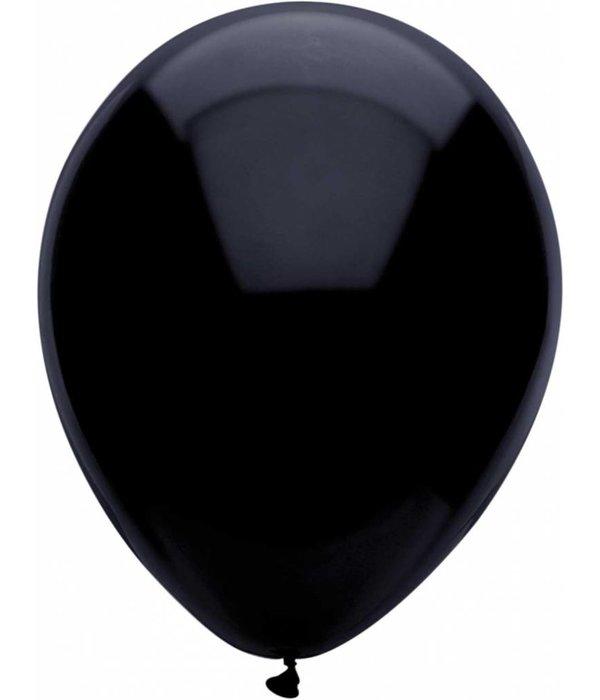 Zwarte ballonnen 30cm 10 stuks