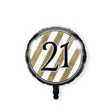 Folieballon '21' Black & Gold (46cm)