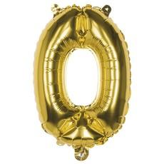 Cijfer ballon '0' folie goud 36cm