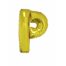 Folieballon Goud Letter 'P' 102cm