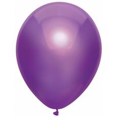 Metallic Paarse ballonnen 100 stuks