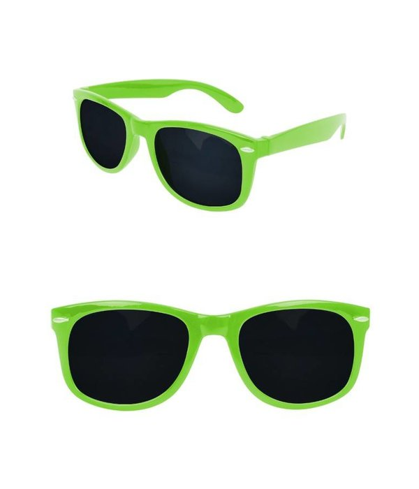 Bril Blues Brothers Neon Green