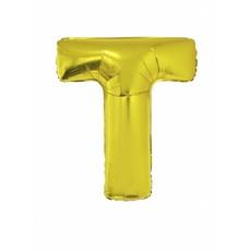 Folieballon Goud Letter 'T' 102cm