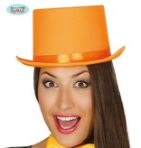 Hoge hoed oranje