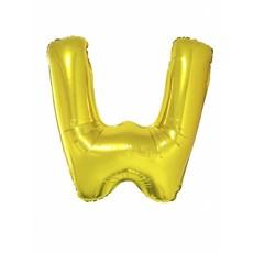 Folieballon Goud Letter 'W' groot