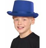 Hoge hoed blauw kind