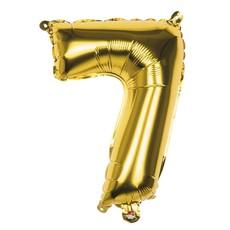 Folieballon Cijfer '7' Goud 36cm