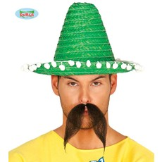 Mexicaanse sombrero groen 33cm