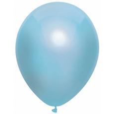 Metallic ballonnen lichtblauw 100 stuks 30cm