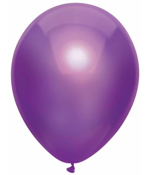 Paarse metallic ballonnen 30cm - 10 stuks