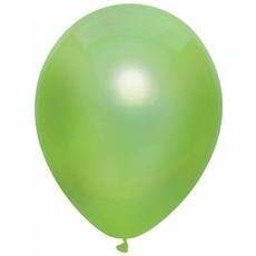 Lichtgroene Metallic ballonnen 30cm - 10 stuks