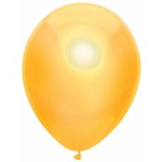 Gele Metallic Ballonnen 30cm - 10 stuks