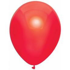 Rode Metallic Ballonnen 30cm - 10 stuks