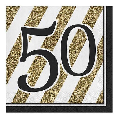 Servetten '50' Zwart/Goud