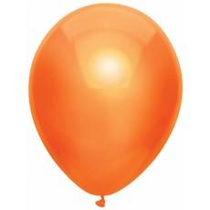 100 oranje metallic ballonnen 30cm