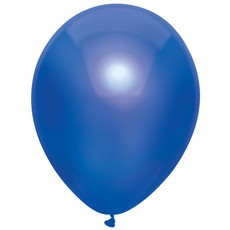 100 Metallic blauwe ballonnen 30cm