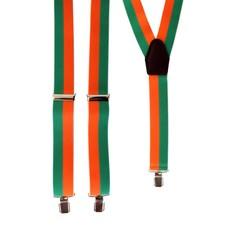 Bretel gestreept oranje/groen