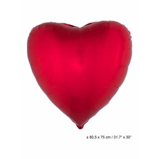 Folieballon Hart rood 80cm