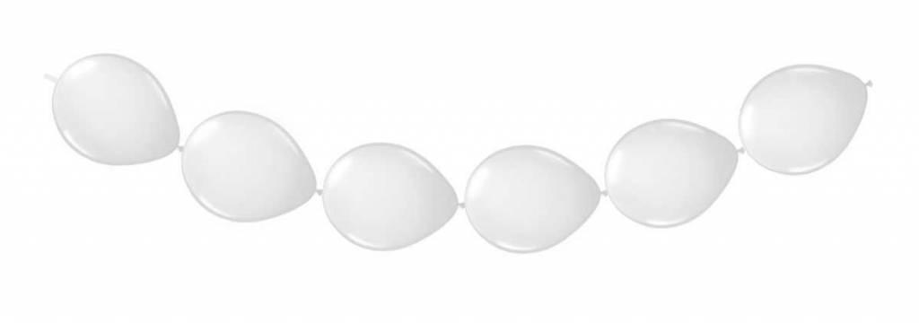 Witte Ballonnenslinger - Knoopballonnen - 3 meter