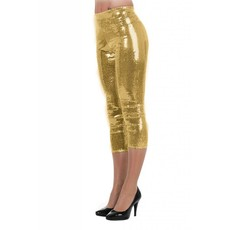 Legging pailletten stretch goud