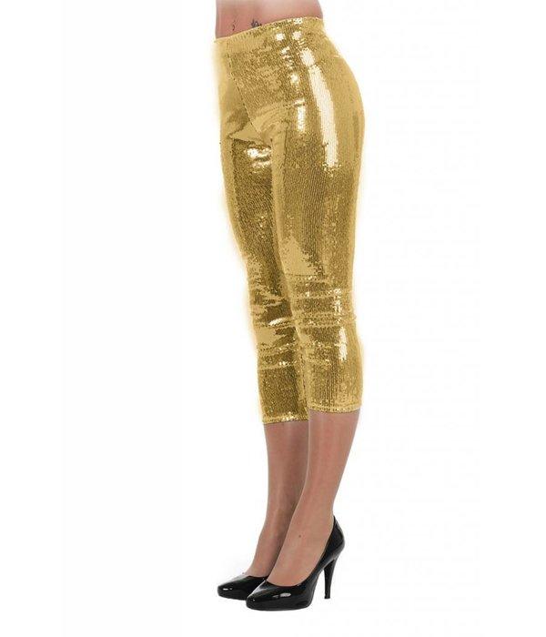 Legging pailletten stretch goud