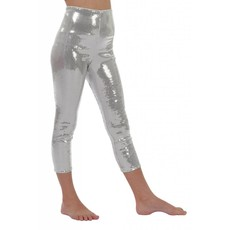 Legging pailletten zilver kind