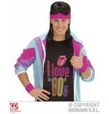 80's zweetband set neon roze