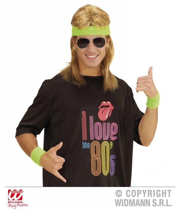 80's zweetband set neon groen