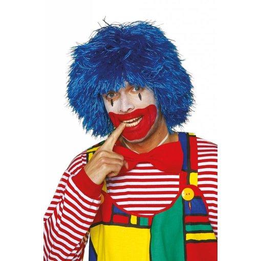 Clown pruik blauw