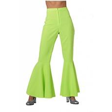 Hippie broek vrouw neon groen Jess