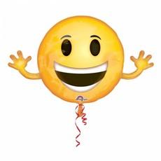 Emoji folie ballon smile 99 x 58 cm