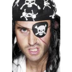 Piraat ooglap doodshoofd