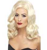 20's pruik golvend blond