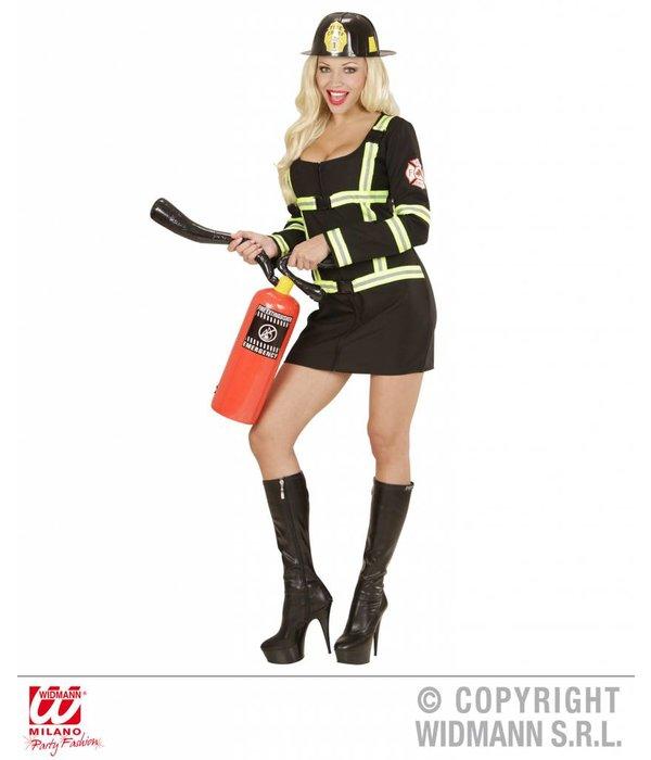 Brandweervrouw zwart sexy