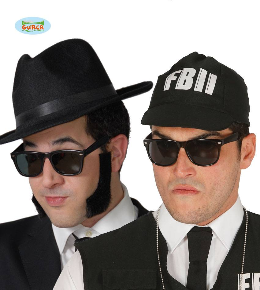 Bril zwart Blues Brothers