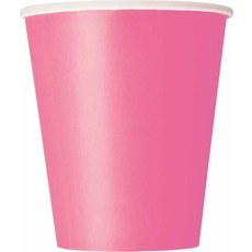 14 hot pink drinkbekers
